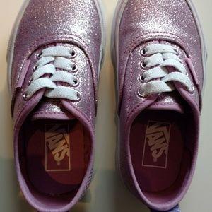 Brand NEW. Little girls sparkly lavender vans.